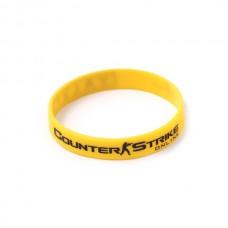 Браслет CS силиконовый, желтый