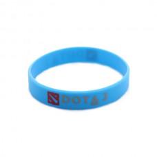 Браслет DOTA2 силиконовый, синий