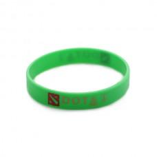 Браслет DOTA2 силиконовый, зеленый