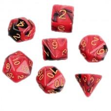 Кубики DND Color, черный с красным