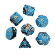Кубики DND Color, синий с черным