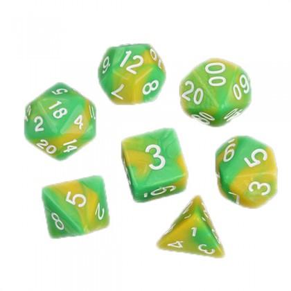 Кубики DND Color, желтый с зеленым