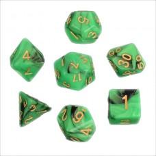 Кубики DND Color, зеленый с черным