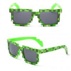 Очки Minecraft, зеленые